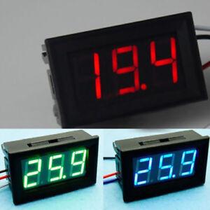 """DC 3-30V 0.36/"""" 2 Wire LED Digital Panel Volt Meter Voltage Voltmeter Car MotorUK"""