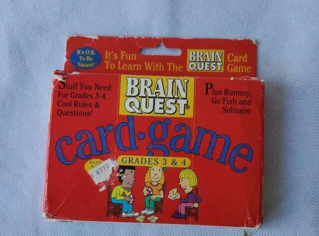 Brain Quest Card Game New Grades 3 & 4