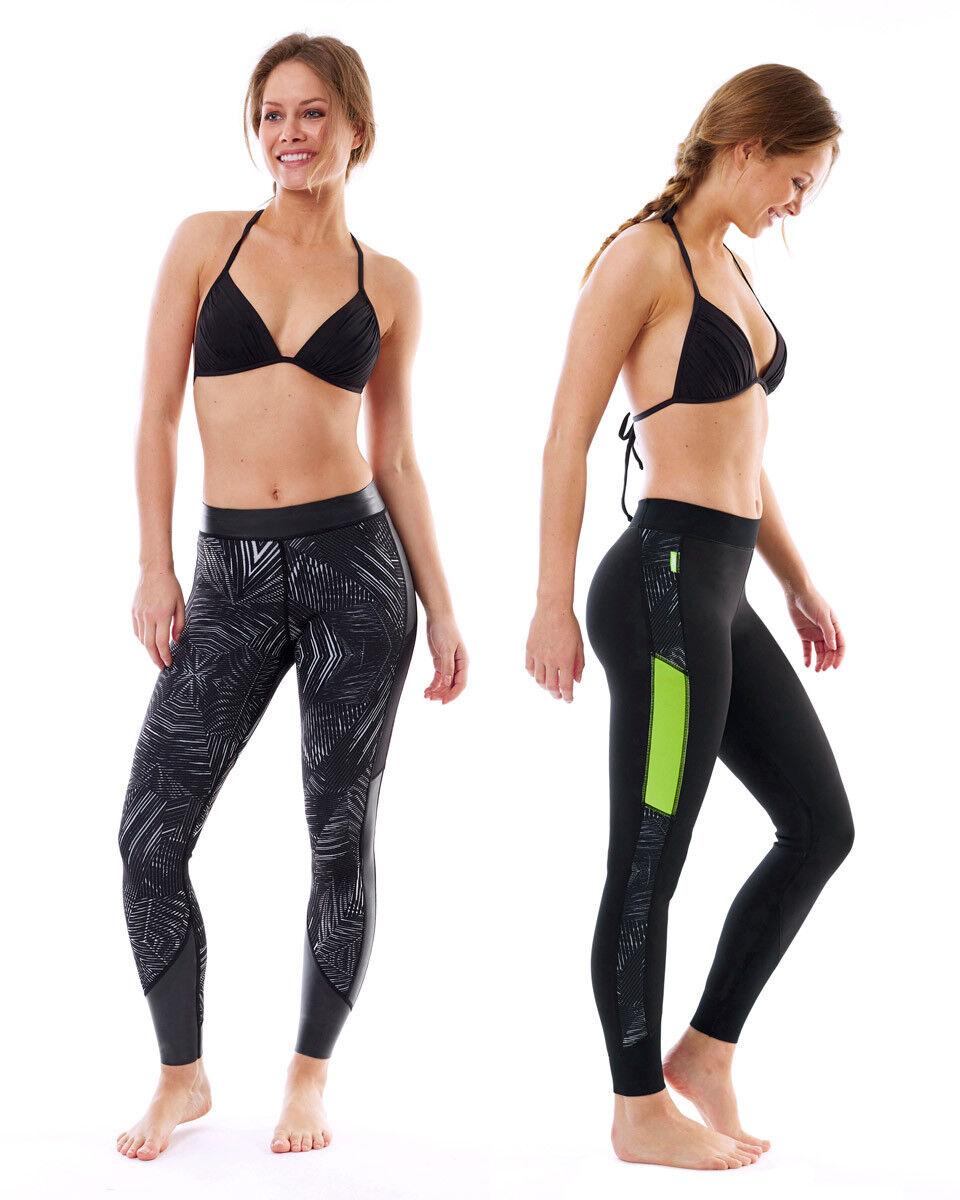 Jobe verona legging Rev 1.5 mm Lime señora surf relacionados con las cometas pantalones para hacer esquí acuático sup j18