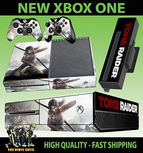 XBOX ONE CONSOLE STICKER LARA CROFT TOMB RAIDER SKIN & 2 X ... Xbox One Skins Ebay