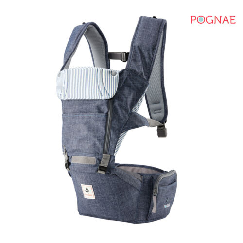 All New NO5 hip seat baby carrier-denim blue POGNAE