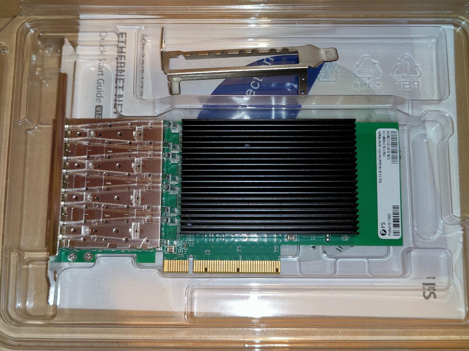 Intel XL710-BM1-Based Ethernet Network Interface Card, 10G Quad-Port SFP+, PCIe