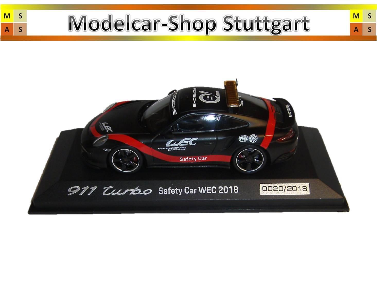 Porsche 911 Turbo Safety Car Wec 2018 - Minichamps 1 43 - WAP0209270K - New