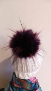 52 colours Spare Detachable Pom Pom Lilac Faux Fur Large size