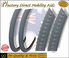 """2 X Wheelchair Bicycle Tyres 24"""" 24 Inch 1 3/8  Direct Importer!"""
