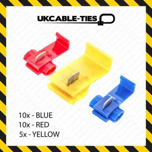 25X Assorted Blue Red Yellow Scotch Lock Wire Connectors Quick Splice Terminals