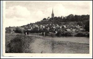FRANKENBERG-alte-AK-s-w-Ansicht-um-1940-Partie-a-d-Eder-Blick-zur-Kirche