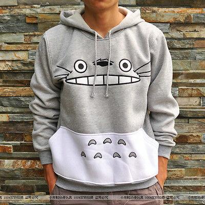 Anime My Neighbor Totoro Jumper Hoodie Studio Ghibli Spirit Cute Gray Hoody