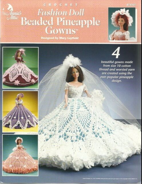 Beaded Pineapple Gowns Annie\'s Fashion Doll Crochet Clothes Pattern ...