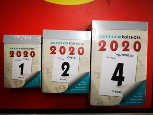 2020 Abreißkalender Zettler 301 302 304 305 Kalender verschiedene Tageskalender
