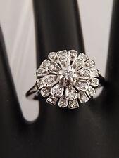 Designer Bow Style Ballerina Diamond Engagement Ring  .27 ct F/SI 10k White Gold