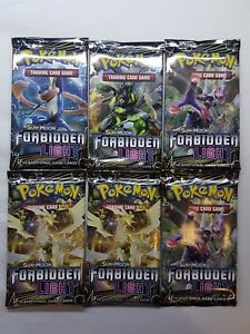 6x Forbidden Light Booster Packs Pokemon Sun & Moon TCG Brand New Lot