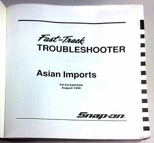 snap on user s manual fast track asian imports troubleshooter 5th rh ebay co uk snap on timing light user manual snap on user manual eeac324b