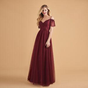 1779e98a0e7e96 Das Bild wird geladen Damen-Lang-Kleid-Abendkleid-Maxikleid-Cocktail -Partykleid-Hochzeit-