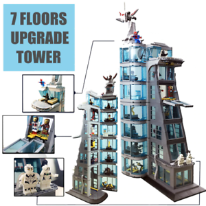 7 Floors SuperHeroes Ironman Marvel Avenger Tower Fit Avengers Brick