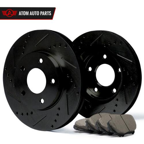 Slot Drill Rotor Ceramic Pads F Black 2004 2005 2006 2007 Toyota Prius