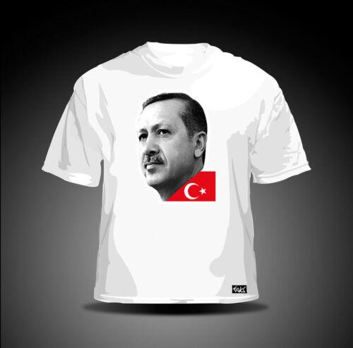 "EAKS® Herren T-Shirt /""RECEP TAYYIP ERDOGAN/"" weiß #3 Türkei AKP Türkiye Turkey"