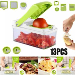 13 IN1 Vegetable Chopper Food Onion Cutter Set Veggie Slicer Dicer Fruit Kitchen