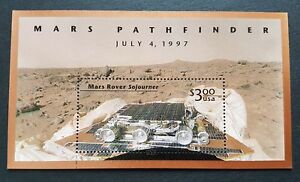 USA-1997-Space-Mars-Pathfinder-Rover-Sojourner-Mini-Sheet-Stamps-Mint-NH
