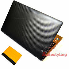 3D CARBON FIBRE Vinyl For HP Laptop Notebook Skin Sticker Cover + FREE SQUEEGEE