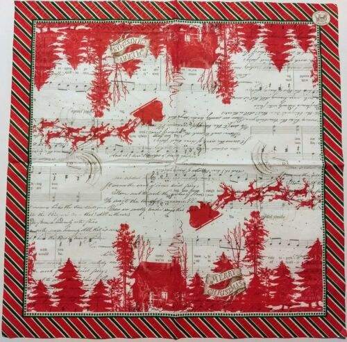SLEIGH RIDE CHRISTMAS 2 individual LUNCH SIZE paper napkins for decoupage 3-ply