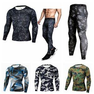 Mens Compression Wear Sports Skin Tights Base Under Layer T Shirts Pants Dri fit