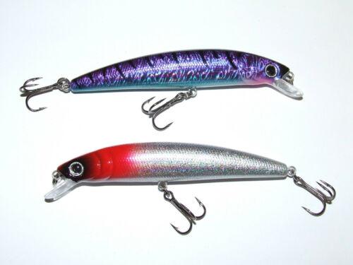 2 x ULTRA 18g 13cm PLUG LURES RAPALA TREBLE HOOKS PIKE BASS SEA COURSE FISHING