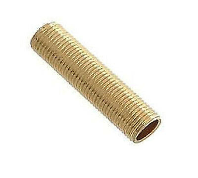 Brass Allthread 10mm Thread 50mm Long Hollow Treaded Tube For Table Lamps Etc