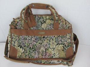 John Weitz Women S Hand Bag Floral Tapestry Faux Leather
