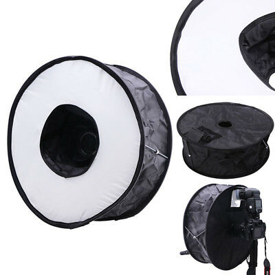 "18""/45cm Foldable Circular Macro Ring Round Softbox Diffuser for`Speedlite Flash"