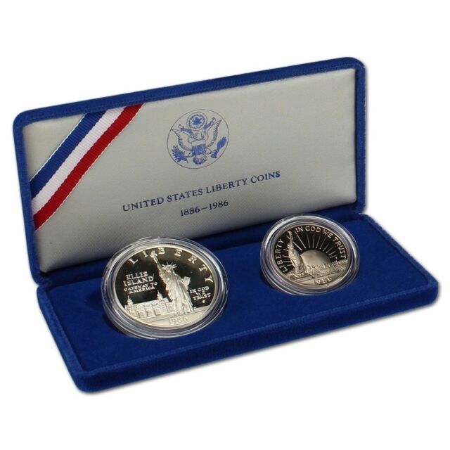 1986 Statue of Liberty Commemorative Half Dollar Uncirculated US Mint Box /& COA