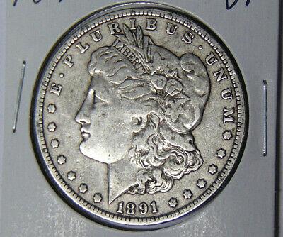 1891-O Morgan Silver Dollar XF New Orleans Mint 42619