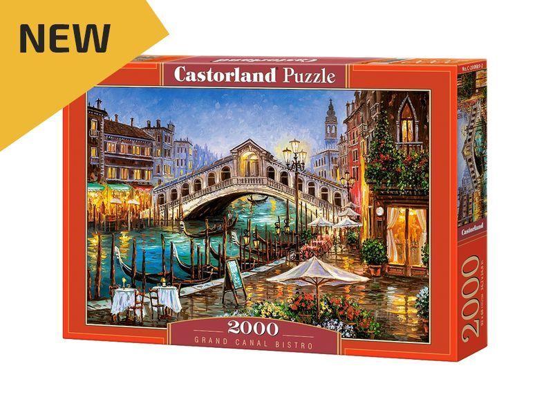 Castorland Puzzle 2000 Pieces - Grand Canal Bistro - 36 x27  Sealed box C-200689