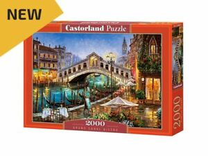"Castorland Puzzle 2000 Pieces - Grand Canal Bistro - 36""x27"" Sealed box C-200689"