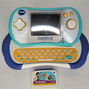 """VTech Mobigo 2 Touch Learning System and game """"Toy Story 3"""" No Stylus Tested"""
