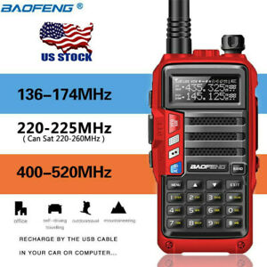 BaoFeng-UV-S9-Tri-Band-Radio-VHF-1-25M-220-Antenna-UHF-Ham-Two-Way-Radio-Red-US