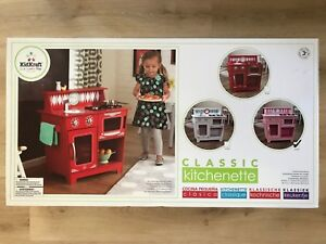 KidKraft-Classic-Kitchenette-Kids-Wooden-Kitchen-Play-set-Pink-New-Sealed
