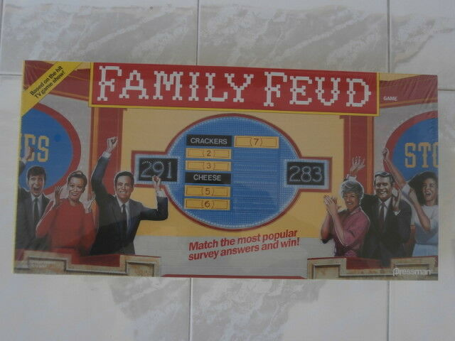 Pressman Family Feud 1990 Board Game TV Show Vintage Classic Toy #3900