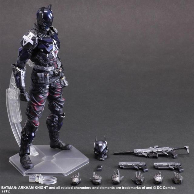 DC Comics Play Arts Kai Batman Arkham Knight PVC Action Figure Statue Nuovo In Box