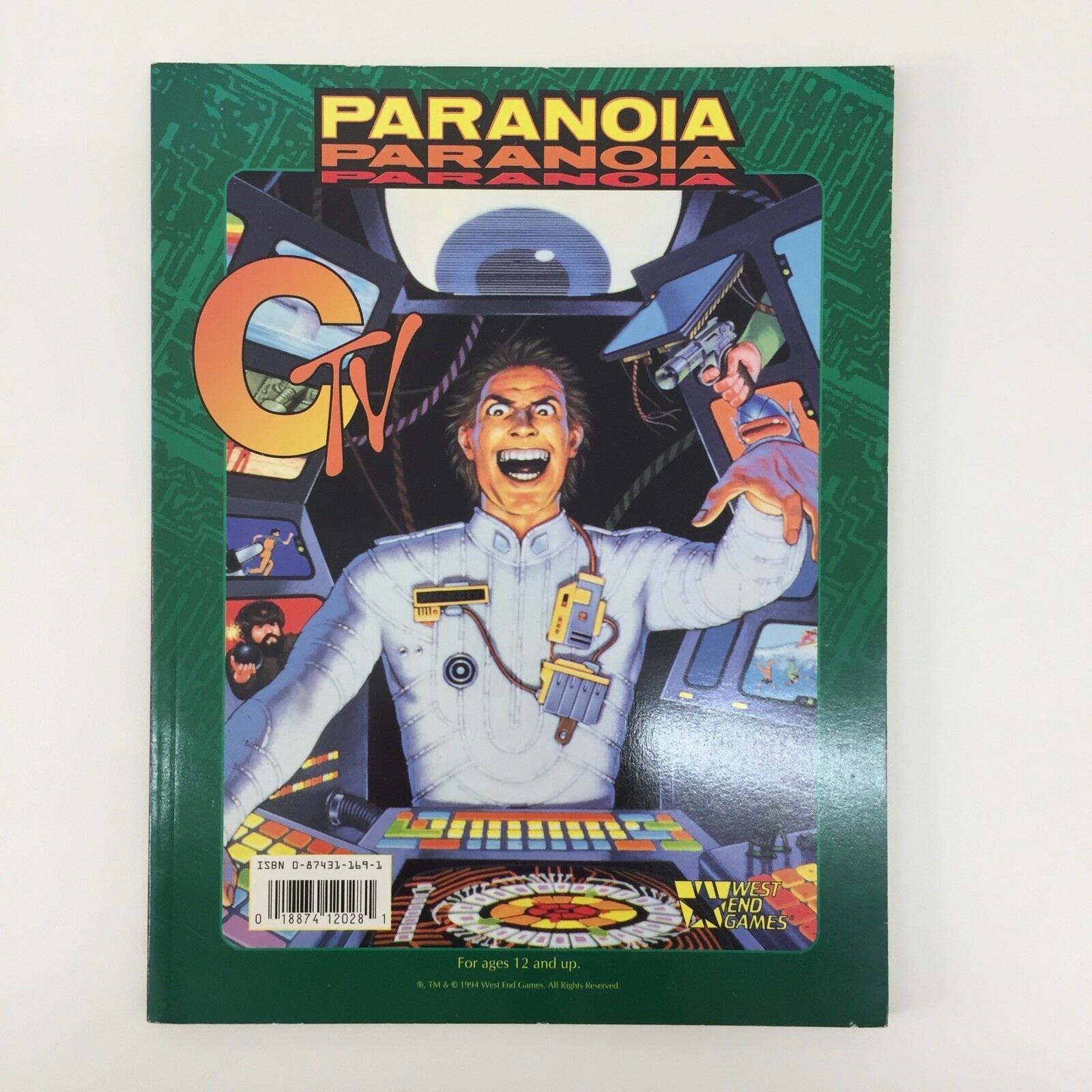 PARANOIA CTV PARANORMAL DOUBLE MODULE WEST END GAMES RPG BOOK (1994)