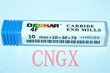 DESKAR High quality HRC50° 1P 2F R3.0mm6×12×50 Solid TiALN CNC Carbide end mill