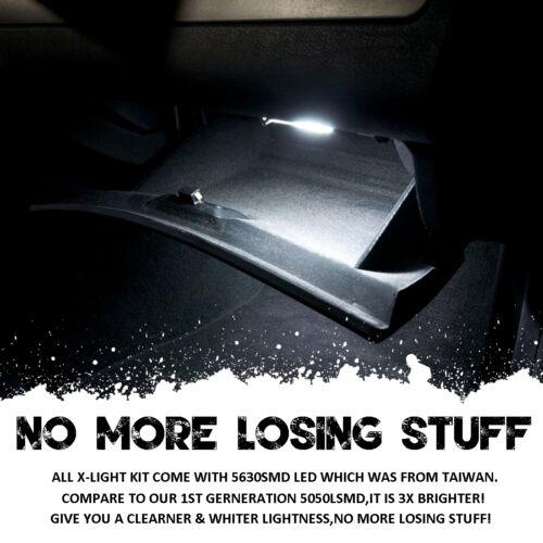 16pc Error Free Xenon White LED lamp Interior Light Kit For Pontiac G8 2008-2009