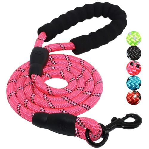 1pc 5FT Strong Dog Leash Climbing Rope Reflective Thread Night Safe