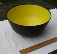 Vintage 1960s HUSQVARNA Swedish PLASTIC SERVING BOWL-Yellow & Black-NR