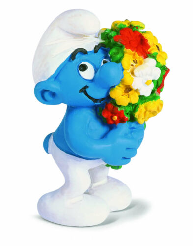 20469 WITH BUNCH OF FLOWERS SMURF by SCHLEICH FROM THE SMURFS