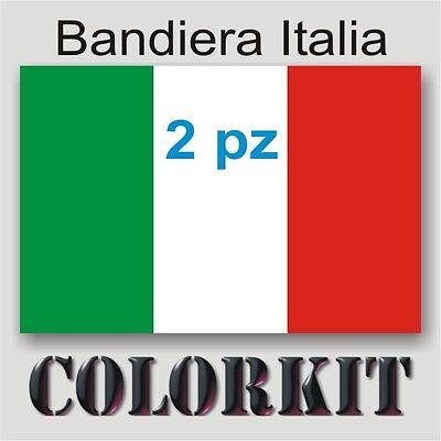 bandiere Italiane italian flag Adesivo bandiera Italiana cm.15x10 Conf 2 PZ