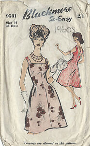 1960s-Vintage-Sewing-Pattern-B36-DRESS-R835