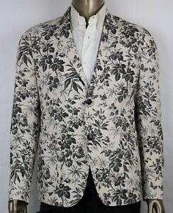 81f1bfd1d4 Details about Gucci Men's Beige/Black Cotton Herbarium Print Jacket 50R /  US 40R 417969 1061