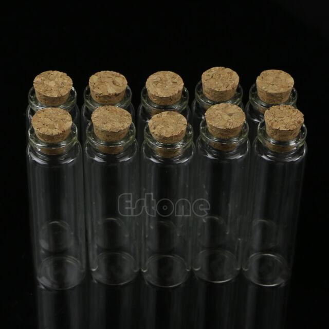 Mini Glass Wish Bottle Vial with Cork Stopper Storage Pendant 0.5/1/2/20mL 10pcs