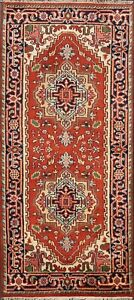 Traditional-Heriz-Hand-Knotted-Geometric-Oriental-Area-Rug-Kitchen-Carpet-3x6-ft